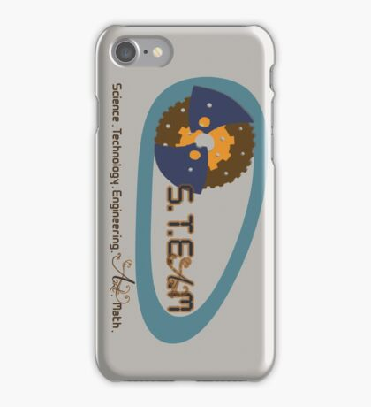 S.T.E.M education to S.T.E.A.M education iPhone Case/Skin