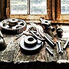 Gears and Wrenches in Machine Shop by Susan Savad