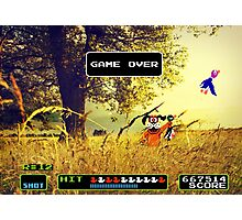 Duck Hunt pixel art Photographic Print