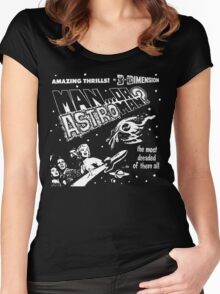 Man Or Astroman? - 3D Women's Fitted Scoop T-Shirt