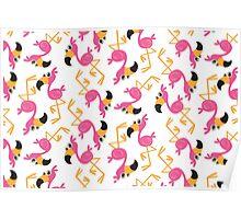 Cute Flamingo  Poster