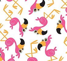 Cute Flamingo  by WaggSwagg