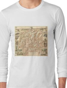 Vintage Map of The White Mountains (1937) Long Sleeve T-Shirt