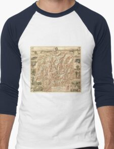 Vintage Map of The White Mountains (1937) Men's Baseball ¾ T-Shirt