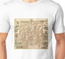Vintage Map of The White Mountains (1937) Unisex T-Shirt