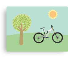 Downhill mountainbike Canvas Print