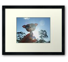 """LPS Littlest Pet Shop Greyhound """"Rainbow Sun"""" Framed Print"""
