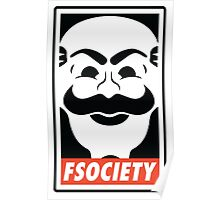 fsociety Mr. Robot Shirts, Stickers and Posters Poster