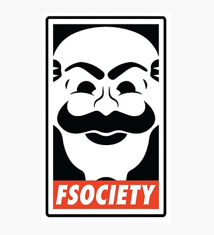 fsociety Mr. Robot Shirts, Stickers and Posters Photographic Print