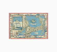 Vintage Map of Cape Cod (1945)  Unisex T-Shirt