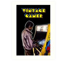 Vintage Gamer 80's Art Print
