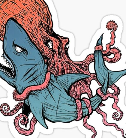 Grappling / BJJ - Kraken x Jaws Sticker