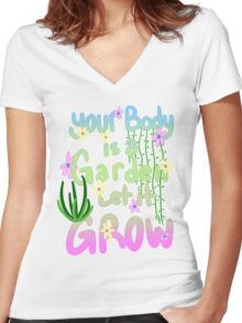 You Are a Garden Women's Fitted V-Neck T-Shirt