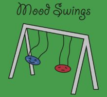 Funny Mood Swings Cartoon Kids Tee
