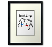 Funny Mood Swings Cartoon Framed Print