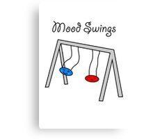 Funny Mood Swings Cartoon Canvas Print