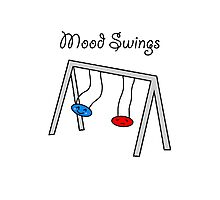 Funny Mood Swings Cartoon Photographic Print
