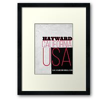 Hayward California USA Framed Print