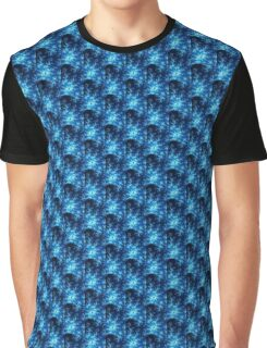 Dark Blue Fractal Graphic T-Shirt