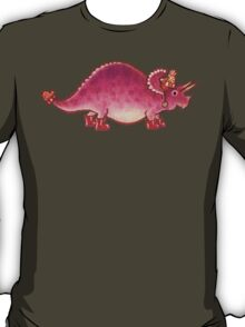 Pink Triceratops Derposaur with Wellies T-Shirt