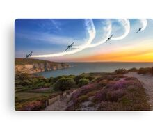 Blades Over The Needles Canvas Print