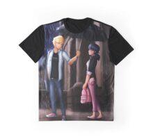 Miraculous Ladybug: The Umbrella Scene Graphic T-Shirt