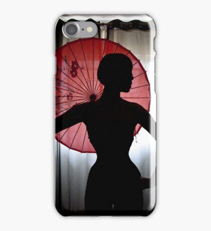 Elegant silhouette iPhone Case/Skin