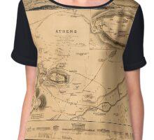 Map of Athens 1832 Chiffon Top
