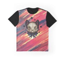 Cute Cat Skull Graphic T-Shirt
