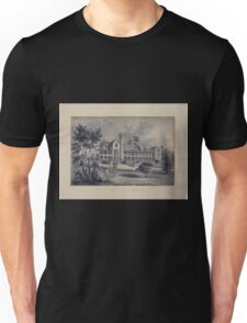 410 Original drawings representing residences of prominent people all with Staten Island NY on the drawn portion Unisex T-Shirt