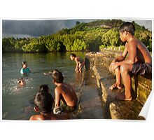 Lenger Swimmers - Pohnpei, Micronesia  Poster