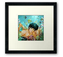 Percy Jackson Underwater Framed Print