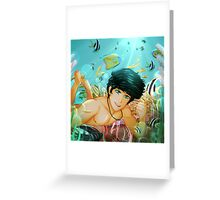 Percy Jackson Underwater Greeting Card
