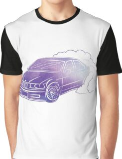 BMW E36 Burnout in purple watercolor Graphic T-Shirt