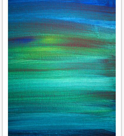 Abstract Blue Green Painting Sticker