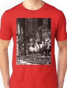 Sitting by the Road in the Rain and Witnessing the Tepid  Darkness Unisex T-Shirt