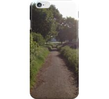 Sunshine On Footpath In The Countryside iPhone Case/Skin