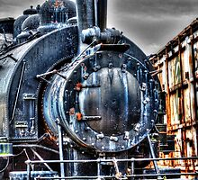 Rusting Locomotive by Roger Passman