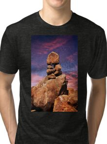 Stacked Rocks at Garden Of The Gods Tri-blend T-Shirt
