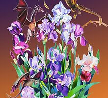 """Dragons in Irises"" by Tatyana Binovskaya"