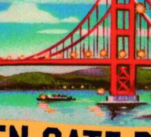 Golden Gate Bridge San Francisco California Vintage Travel DecalGolden Gate Bridge San Francisco California Vintage Travel Decal Sticker