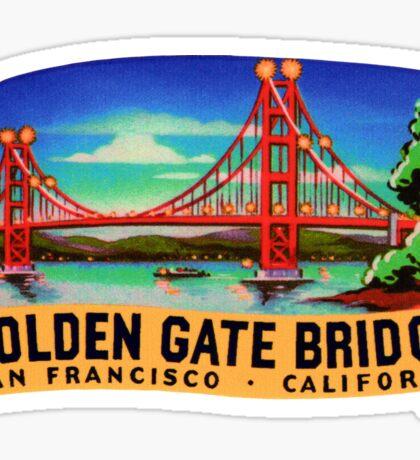 Golden Gate Bridge San Francisco California Vintage Travel Decal Sticker