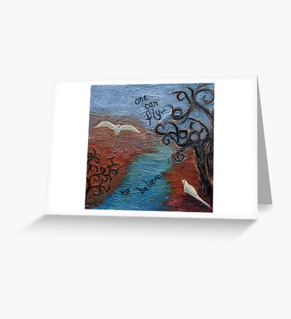 Believe by 'Donna Williams' Greeting Card