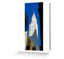 'Chrysler Sky' New York USA Greeting Card