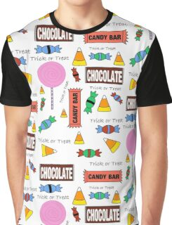 Halloween Candy Explosion Graphic T-Shirt