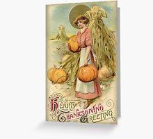 Thanksgiving Pumpkin Harvest Greeting Card