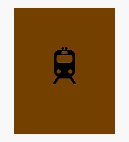 Brown Line CTA Inspired Elevated Train Print Photographic Print