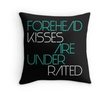 Forehead kisses are under rated Throw Pillow