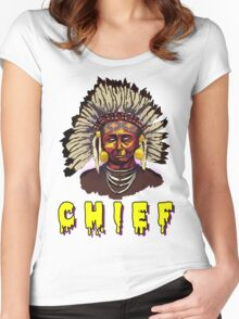 Native American Chief Women's Fitted Scoop T-Shirt