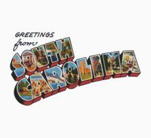 """Greetings from South Carolina"" Baby Tee"
